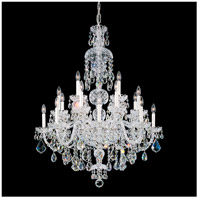 Olde World 25 Light 36 inch Silver Chandelier Ceiling Light in Clear Swarovski