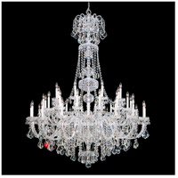 Olde World 45 Light 60 inch Silver Chandelier Ceiling Light in Clear Swarovski