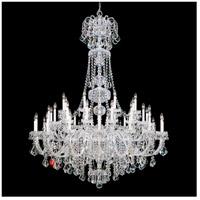 Schonbek 6861-40S Olde World 45 Light 60 inch Silver Chandelier Ceiling Light in Clear Swarovski