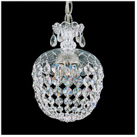 Olde World 3 Light 8 inch Silver Pendant Ceiling Light in Clear Swarovski