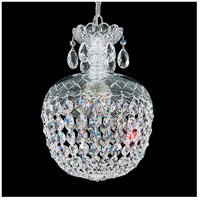 Olde World 3 Light 10 inch Silver Pendant Ceiling Light in Clear Swarovski