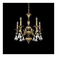 Schonbek Palio 5 Light Chandelier in Florentine Bronze and Golden Shadow Swarovski Elements Trim PA6515N-83GS