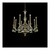 Schonbek Palio 8 Light Chandelier in Parchment Bronze and Bronze Shade Swarovski Elements Trim PA6518N-74BS