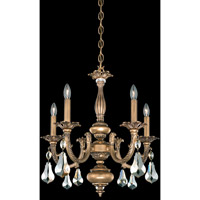 Schonbek Palio 5 Light Chandelier in Florentine Bronze and Golden Shadow Swarovski Elements Trim PA6515N-83GS photo thumbnail