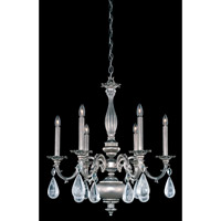 Schonbek Palio 6 Light Chandelier in Roman Silver and Clear Rock Crystal Trim PA6516N-80R