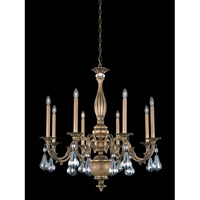 Schonbek Palio 8 Light Chandelier in Florentine Bronze and Silver Night Swarovski Elements Trim PA6518N-83SN
