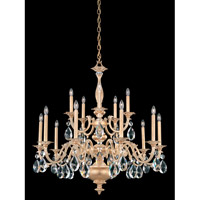 Schonbek Palio 15 Light Chandelier in Parchment Gold and Clear Spectra Crystal Trim PA6525N-27A