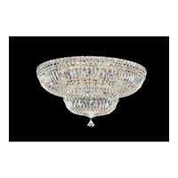 Petit Crystal Deluxe 13 Light 24 inch Gold Flush Mount Ceiling Light in Clear Gemcut, Polished Gold