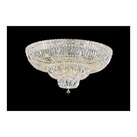 Petit Crystal Deluxe 21 Light 31 inch Gold Flush Mount Ceiling Light in Clear Gemcut, Polished Gold