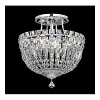 Petit Crystal Deluxe 4 Light 10 inch Silver Semi Flush Mount Ceiling Light in Clear Spectra Crystal, Polished Silver
