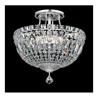 Schonbek 5901-40A Petit Crystal Deluxe 6 Light 12 inch Silver Semi Flush Mount Ceiling Light in Clear Spectra Crystal, Polished Silver photo thumbnail
