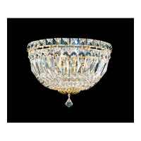 Schonbek Petit Crystal Deluxe 3 Light Wall Sconce in Gold and Clear Spectra Crystal Trim 6600-20A