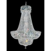 Schonbek Petit Crystal Deluxe 23 Light Chandelier in Silver and Clear Spectra Crystal Trim 6618-40A