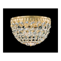 Schonbek Petit Crystal 3 Light Flush Mount in Gold and Clear Spectra Crystal Trim 1558-20A