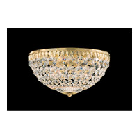 Schonbek Petit Crystal 4 Light Flush Mount in Gold and Clear Spectra Crystal Trim 1560-20A