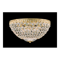 Schonbek Petit Crystal 5 Light Flush Mount in Gold and Clear Spectra Crystal Trim 1562-20A