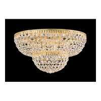 Schonbek Petit Crystal 9 Light Flush Mount in Gold and Clear Spectra Crystal Trim 1568-20A