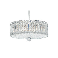 Schonbek Plaza 9 Light Pendant in Stainless Steel and Clear Spectra Crystal Trim 6670A