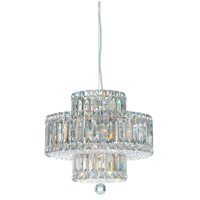 Schonbek Plaza 9 Light Pendant in Stainless Steel and Silver Shade Swarovski Elements Trim 6671SH