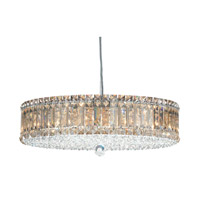 Schonbek Plaza 15 Light Pendant in Stainless Steel and Golden Shadow Swarovski Elements Trim 6672GS