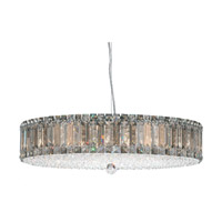Schonbek Plaza 21 Light Pendant in Stainless Steel and Silver Teak Swarovski Elements Trim 6674ST
