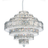Schonbek Plaza 31 Light Pendant in Stainless Steel and Silver Shade Swarovski Elements Trim 6677SH