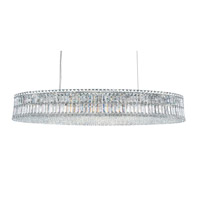 Plaza 24 Light 23 inch Stainless Steel Pendant Ceiling Light in Clear Spectra