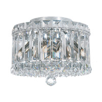 Plaza 4 Light 8 inch Stainless Steel Flush Mount Ceiling Light in Clear Spectra Crystal