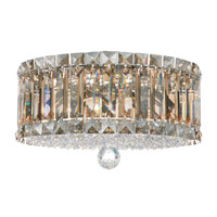Schonbek Plaza 4 Light Flush Mount in Stainless Steel and Golden Shadow Swarovski Elements Trim 6694GS photo thumbnail