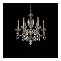 Schonbek Poeta 6 Light Chandelier in Roman Silver and Crystal Swarovski Elements Trim PO6616N-80S