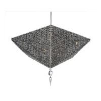 Schonbek Vertex 16 Light Pendant in Stainless Steel and Black Diamond Swarovski Elements Trim VP3217BLA