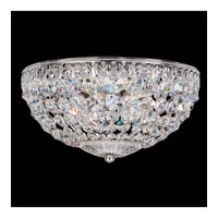 Petit Crystal 4 Light 10 inch Silver Flush Mount Ceiling Light in Clear Spectra Crystal, Polished Silver