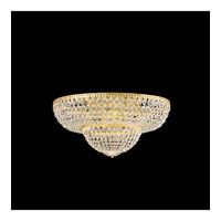 Schonbek Petit Crystal 12 Light Flush Mount in Gold and Clear Spectra Crystal Trim 1574-20A