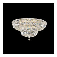 Schonbek Petit Crystal Deluxe 13 Light Flush Mount in Gold and Clear Gemcut Trim 5895-20M