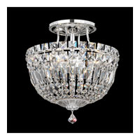 Schonbek Petit Crystal Deluxe 4 Light Semi Flush Mount in Silver and Clear Spectra Crystal Trim 5900-40A