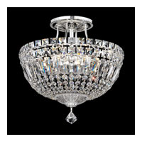 Schonbek Petit Crystal Deluxe 6 Light Semi Flush Mount in Silver and Clear Spectra Crystal Trim 5901-40A