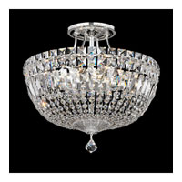 Schonbek Petit Crystal Deluxe 8 Light Semi Flush Mount in Silver and Clear Spectra Crystal Trim 5902-40A
