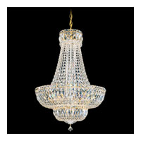 Schonbek Petit Crystal Deluxe 20 Light Chandelier in Gold and Clear Spectra Crystal Trim 6616-20A