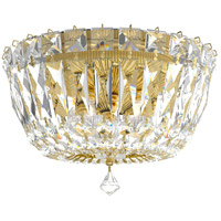 Schonbek 5890-211M Petit Crystal Deluxe 3 Light 8 inch Aurelia Flush Mount Ceiling Light in Clear Gemcut