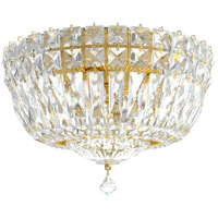 Schonbek 5891-211M Petit Crystal Deluxe 4 Light 10 inch Aurelia Flush Mount Ceiling Light in Clear Gemcut
