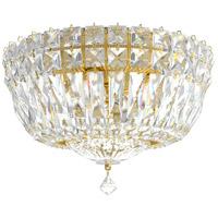 Schonbek 5891-211A Petit Crystal Deluxe 4 Light 10 inch Aurelia Gold Flush Mount Ceiling Light in Petite Deluxe Spectra