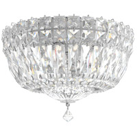 Schonbek 5891-40A Petit Crystal Deluxe 4 Light 10 inch Silver Flush Mount Ceiling Light in Polished Silver, Clear Spectra