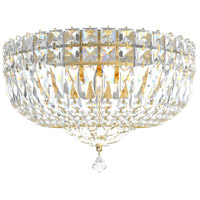 Schonbek 5892-211A Petit Crystal Deluxe 5 Light 12 inch Aurelia Flush Mount Ceiling Light in Petite Deluxe Spectra