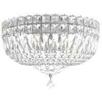 Schonbek 5892-40A Petit Crystal Deluxe 5 Light 12 inch Silver Flush Mount Ceiling Light in Polished Silver, Clear Spectra