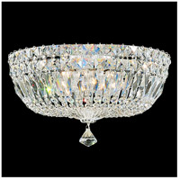 Petit Crystal Deluxe 5 Light 14 inch Silver Flush Mount Ceiling Light in Clear Gemcut