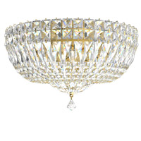 Schonbek 5893-211A Petit Crystal Deluxe 5 Light 14 inch Aurelia Flush Mount Ceiling Light in Clear Spectra