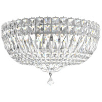 Schonbek 5893-40M Petit Crystal Deluxe 5 Light 14 inch Silver Flush Mount Ceiling Light in Polished Silver, Clear Gemcut