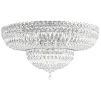 Schonbek 5895-40A Petit Crystal Deluxe 13 Light 24 inch Silver Flush Mount Ceiling Light in Polished Silver, Petite Deluxe Spectra