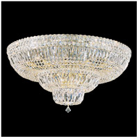 Petit Crystal Deluxe 21 Light 31 inch Aurelia Flush Mount Ceiling Light in Clear Gemcut