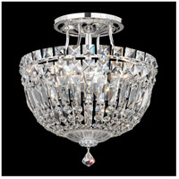 Petit Crystal Deluxe 4 Light 10 inch Silver Semi Flush Mount Ceiling Light in Clear Spectra